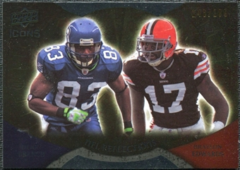 2009 Upper Deck Icons NFL Reflections Gold #RFBE Braylon Edwards Deion Branch /199