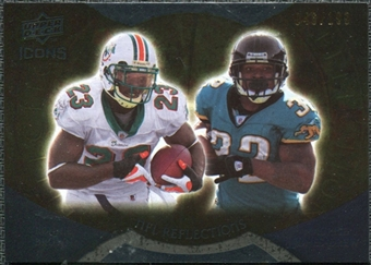 2009 Upper Deck Icons NFL Reflections Gold #RFBJ Maurice Jones-Drew Ronnie Brown /199