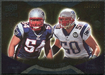 2009 Upper Deck Icons NFL Reflections Gold #RFBV Mike Vrabel Tedy Bruschi /199