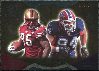 2009 Upper Deck Icons NFL Reflections Gold #RFDS Aaron Schobel Vernon Davis /199