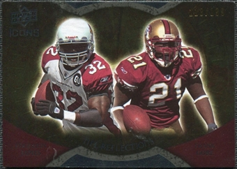 2009 Upper Deck Icons NFL Reflections Gold #RFJG Edgerrin James Frank Gore /199