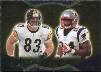 2009 Upper Deck Icons NFL Reflections Gold #RFMW Ben Watson Heath Miller 104/199