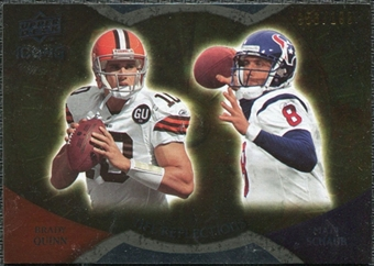 2009 Upper Deck Icons NFL Reflections Gold #RFQS Brady Quinn Matt Schaub /199
