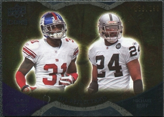 2009 Upper Deck Icons NFL Reflections Gold #RFRH Aaron Ross Michael Huff /199
