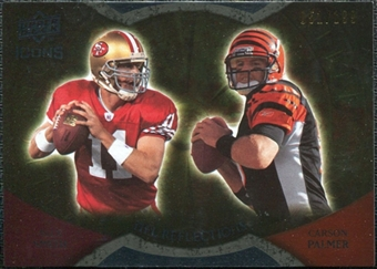 2009 Upper Deck Icons NFL Reflections Gold #RFSP Alex Smith Carson Palmer /199