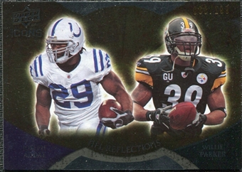 2009 Upper Deck Icons NFL Reflections Die Cut #RFAP Joseph Addai Willie Parker /40
