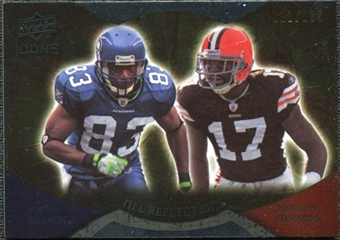 2009 Upper Deck Icons NFL Reflections Die Cut #RFBE Braylon Edwards Deion Branch /40