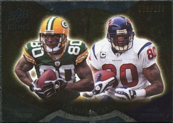 2009 Upper Deck Icons NFL Reflections Die Cut #RFDJ Andre Johnson Donald Driver /40