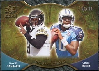 2009 Upper Deck Icons NFL Reflections Die Cut #RFGY David Garrard Vince Young /40