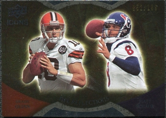 2009 Upper Deck Icons NFL Reflections Die Cut #RFQS Brady Quinn Matt Schaub /40