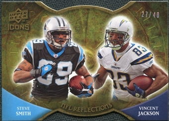 2009 Upper Deck Icons NFL Reflections Die Cut #RFSJ Steve Smith Vincent Jackson /40