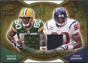 2009 Upper Deck Icons NFL Reflections Jerseys #RFDJ Andre Johnson Donald Driver /99