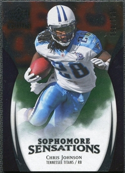 2009 Upper Deck Icons Sophomore Sensations Silver #SSCJ Chris Johnson /450