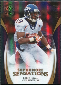 2009 Upper Deck Icons Sophomore Sensations Gold #SSER Eddie Royal /130