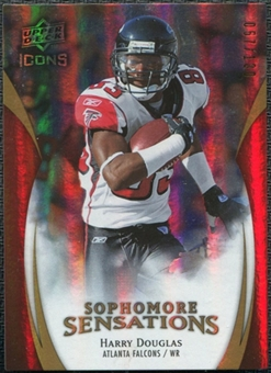 2009 Upper Deck Icons Sophomore Sensations Gold #SSHD Harry Douglas /130