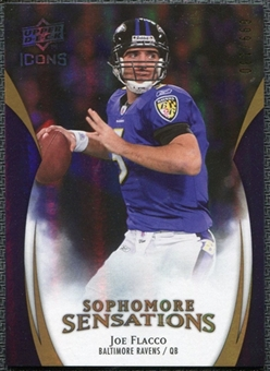 2009 Upper Deck Icons Sophomore Sensations Gold #SSJF Joe Flacco /130