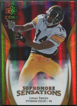 2009 Upper Deck Icons Sophomore Sensations Gold #SSLS Limas Sweed 41/130
