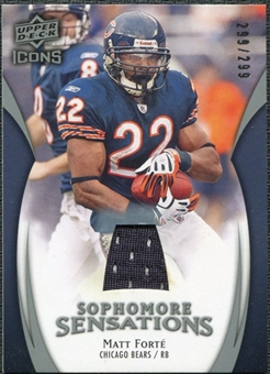2009 Upper Deck Icons Sophomore Sensations Jerseys #SSMF Matt Forte /299