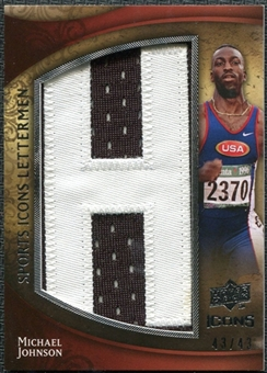 2009 Upper Deck Icons Sports Lettermen #SLMJ Michael Johnson track/42/43/(Letters spell out JOHNSON/ Total pri