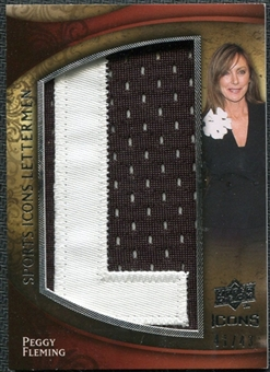 2009 Upper Deck Icons Sports Lettermen #SLPF Peggy Fleming/42/(Letters spell out FLEMING/ Total print run 294)