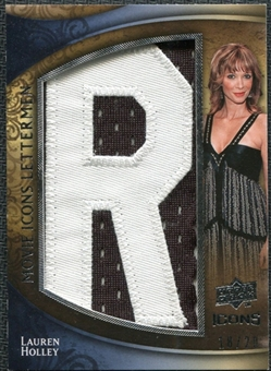 2009 Upper Deck Icons Movie Lettermen #MLLH Lauren Holley Letters spell out CINDY ROONEY /20