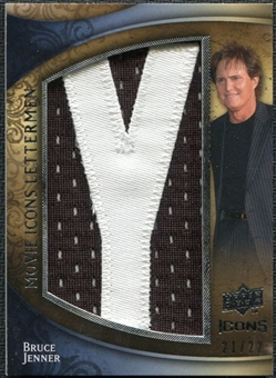 2009 Upper Deck Icons Movie Lettermen #MMBJ Bruce Jenner /22 Letters spell out JIM GREGORY