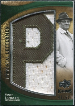 2009 Upper Deck Icons Immortal Lettermen #ILVL Vince Lombardi/62/(Letters spell out PACKERS/ Total print run 4