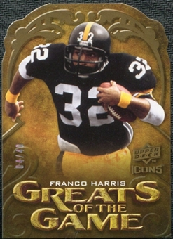 2009 Upper Deck Icons Greats of the Game Die Cut #GGFH Franco Harris /40