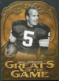 2009 Upper Deck Icons Greats of the Game Die Cut #GGPH Paul Hornung /40