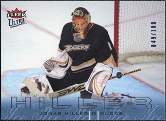 2009/10 Fleer Ultra Ice Medallion #4 Jonas Hiller /100