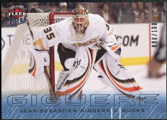 2009/10 Fleer Ultra Ice Medallion #5 Jean-Sebastien Giguere /100