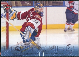 2009/10 Fleer Ultra Ice Medallion #9 Kari Lehtonen /100