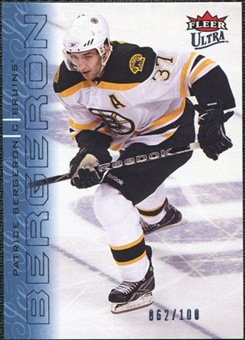 2009/10 Fleer Ultra Ice Medallion #11 Patrice Bergeron /100