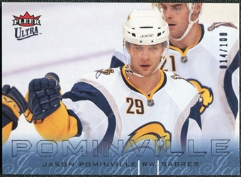 2009/10 Fleer Ultra Ice Medallion #19 Jason Pominville /100