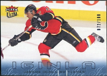 2009/10 Fleer Ultra Ice Medallion #21 Jarome Iginla /100