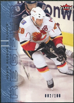2009/10 Fleer Ultra Ice Medallion #22 Robyn Regehr /100