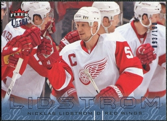 2009/10 Fleer Ultra Ice Medallion #55 Nicklas Lidstrom /100