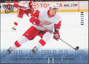 2009/10 Fleer Ultra Ice Medallion #56 Valtteri Filppula /100