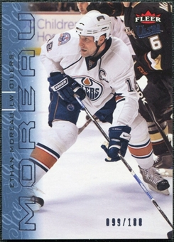 2009/10 Fleer Ultra Ice Medallion #61 Ethan Moreau /100