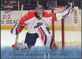 2009/10 Fleer Ultra Ice Medallion #65 Craig Anderson /100