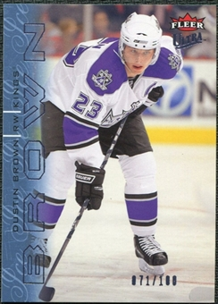 2009/10 Fleer Ultra Ice Medallion #69 Dustin Brown /100