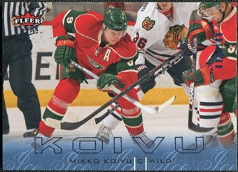 2009/10 Fleer Ultra Ice Medallion #73 Mikko Koivu /100