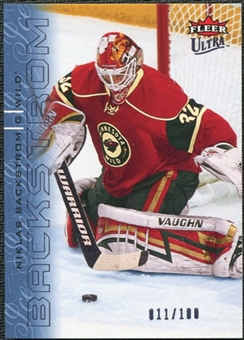 2009/10 Fleer Ultra Ice Medallion #74 Niklas Backstrom /100