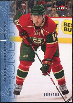 2009/10 Fleer Ultra Ice Medallion #77 Andrew Brunette /100