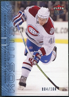 2009/10 Fleer Ultra Ice Medallion #80 Andrei Kostitsyn /100