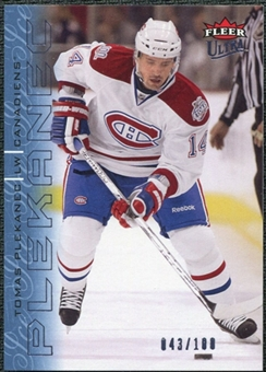 2009/10 Fleer Ultra Ice Medallion #83 Tomas Plekanec /100