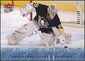 2009/10 Fleer Ultra Ice Medallion #119 Marc-Andre Fleury /100