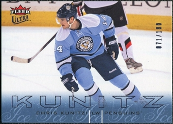 2009/10 Fleer Ultra Ice Medallion #121 Chris Kunitz /100