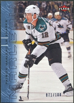 2009/10 Fleer Ultra Ice Medallion #123 Patrick Marleau /100