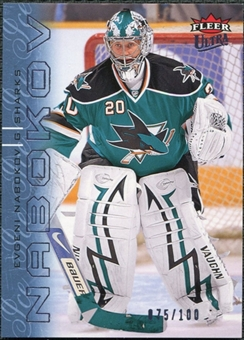 2009/10 Fleer Ultra Ice Medallion #124 Evgeni Nabokov /100